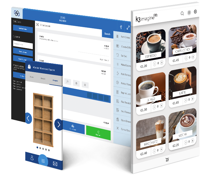 Screenshots of the K3 imagine software